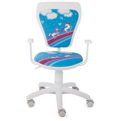 Obrotowe krzesło dziecięce ministyle white - pony marki Nowy styl