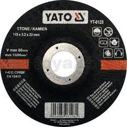 Tarcza do cięcia kamienia, wypukła 115x3.2x22 mm / yt-6128 /  - zyskaj rabat 30 zł marki Yato