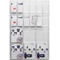Helit innovative büroprodukte Ekspozycja ścienna, liczba przegród x format 6 x din a4, 12x1/3 din a4, wys.