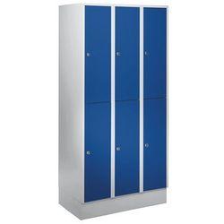 Szafa szatniowa z cokołem, wys. x szer. x gł. 1800x900x500 mm, 6 półek, niebiesk marki Eugen wolf
