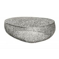 Invicta stolik kawowy leaf 122cm srebrny - metal marki Sofa.pl