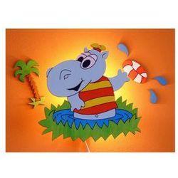 Kinkiet dziecięcy hipopotan na trawie 1xe14/25w/220v od producenta Prezent
