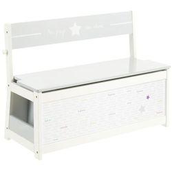 Atmosphera créateur d'intérieur Skrzynia na zabawki - ława, siedzisko, 2w1, kolor biało-szary