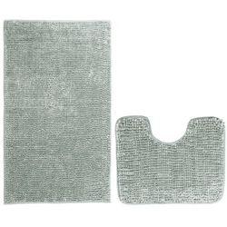 AmeliaHome Komplet dywaników łazienkowych Bati szary, 2szt. 50 x 80 cm, 40 x 50 cm, 231657