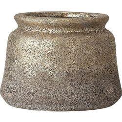 Osłonka na doniczkę bloomingville 13,5 cm złota z terakoty (5711173231423)