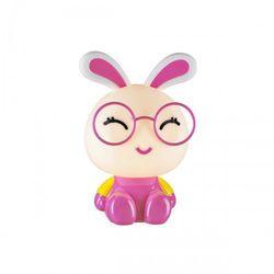 Lampka nocna Bunny 1 x 40 W E14 IP20 różowo-biała, 209