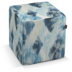 Dekoria  pokrowiec na pufę kostke, niebiesko-szary, kostka 40x40x40 cm, aquarelle