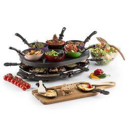 oneConcept Woklette Grill stołowy Raclette zestaw Wok 1200 W 8 osób