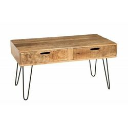 Invicta stolik kawowy scorpion 100 cm - mango, drewno, żelazo marki Sofa.pl