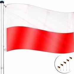 Flagmaster ® Maszt flagowy 6,5m alu maszt do flagi + flaga pl