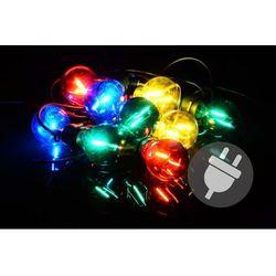Oświetlenie ogrodowe LED - szklane żarówki - 5 m kolorowe