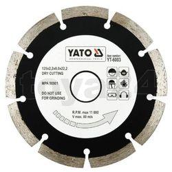 Tarcza diamentowa, segmentowa 125 mm / YT-6003 / YATO - ZYSKAJ RABAT 30 ZŁ, YT-6003 (2450865)