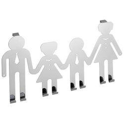 Wieszak na drzwi HAPPY FAMILY, 8 haczyków - stal chromowana, WENKO (4008838790069)