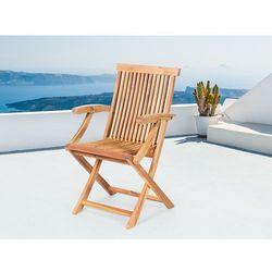 Krzesło ogrodowe - krzesło drewniane - akacja - JAVA - produkt z kategorii- Pozostałe meble ogrodowe