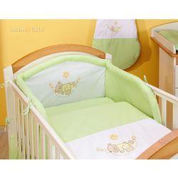 MAMO-TATO pościel 2-el Miś w hamaku w zieleni do łóżeczka 60x120cm, kup u jednego z partnerów