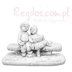 Figura ogrodowa betonowa dzieci na ławce 42cm z kategorii Dekoracje ogrodowe
