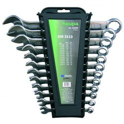 HAUPA Zestaw kluczy płasko-oczkowych 12-elem. 110250