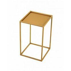Stojak metalowy, złoty kwietnik loft 40 cm (5908311189344)