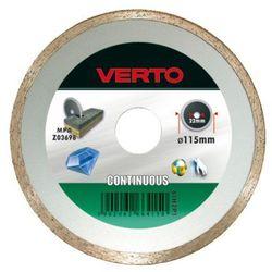 Tarcza do cięcia VERTO 61H3T5 125 x 22.2 diamentowa pełna