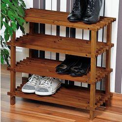 Kesper Wysoka szafka na buty z drewna jodłowego, pojemny i ustawny regał na buty z czterema półkami