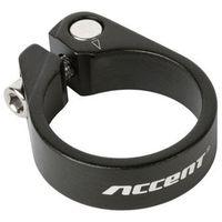 610-00-58_acc obejma podsiodłowa ze śrubą imbusową  light 34.9mm, czarna piaskowana marki Accent