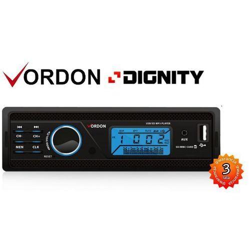 VORDON DIGNITY HT-165S - RADIO SAMOCHODOWE Z ODTWARZANIEM MP3 SD USB - POLSKA DYSTRYBUCJA, GWARANCJA PRODUCENT