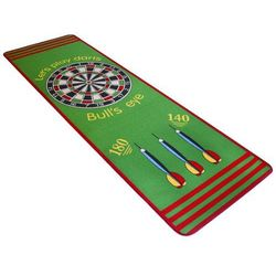 Vidaxl dywanik z tarczą do dart 79x237 cm zielony i czerwony