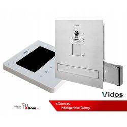Vidos Zestaw wideodomofonu s1201a-skm_m1022w skrzynka na listy z wideodomofonem monitor biały 4,3''