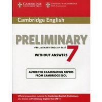 Cambridge English Preliminary (PET) 7 Podręcznik Bez Odpowiedzi (2012)