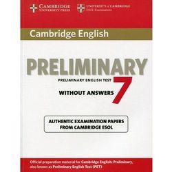 Cambridge English Preliminary (PET) 7 Podręcznik Bez Odpowiedzi, rok wydania (2012)