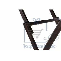 Ogrodowy bistro stolik ze składanym blatem szklanym - brązowy (4025327364907)