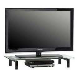 Stolik pod telewizor, 82 cm, czarny, szkło, metal, 16039599