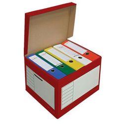 Pressel pudło archiwizacyjne otwierane z góry 410x350x300mm czerwony, 10 sztukac