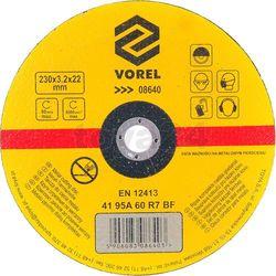 Tarcza do cięcia metalu 230x3,2x22 / 08640 /  - zyskaj rabat 30 zł marki Vorel