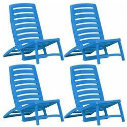 Komplet krzeseł plażowych Lido- niebieski, vidaxl_45626