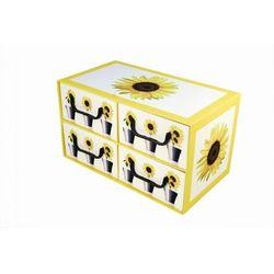 Pudełko kartonowe 4 szuflady poziome DONICZKI-SŁONECZNIK (doniczka i podstawka)