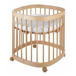 Bukowe wielofunkcyjne łóżeczko dziecięce - nando 3x marki Elior
