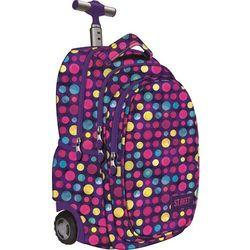 St.reet plecak szkolny na kółkach kropki multicolor 609633, marki St. majewski