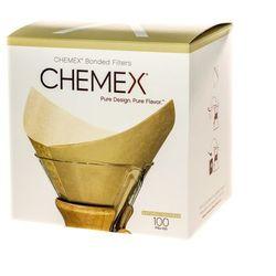 Chemex brązowe filtry kwadratowe papierowe - 6, 8, 10 filiżanek
