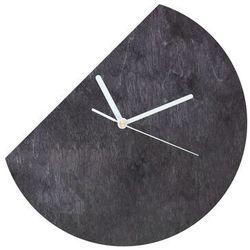 Congee.pl Drewniany zegar na ścianę okrągły ucięty z białymi wskazówkami (5907509934346)