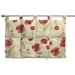Dekoria Wezgłowie na szelkach, bordowe maki, kremowe tło, 90 x 67 cm, Flowers