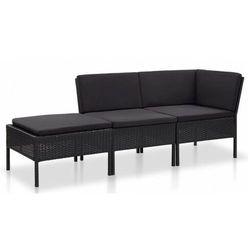 Elior Czarny zestaw wypoczynkowy z poduszkami - romulus