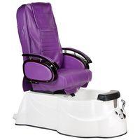 Fotel do pedicure z masażem br-3820d fioletowy marki Beauty system