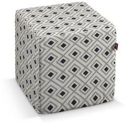 Dekoria Pufa kostka, czarno-szare romby na białym tle, 40 × 40 × 40 cm, Geometric