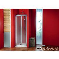 SIGMA drzwi prysznicowe do wnęki składane 90cm szkło czyste SG1829