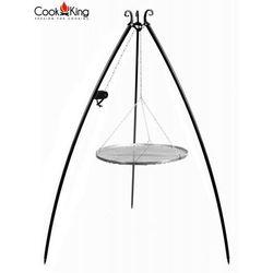 Cook&king Grill ogrodowy stal nierdzewna z kołowrotkiem 80 cm