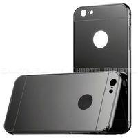 Aluminiowy pokrowiec Metal Mirror Bumper lusterko iPhone 7 Plus czarny - Czarny (Futerał telefoniczny)