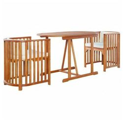 Elior Zestaw drewnianych mebli ogrodowych - denton