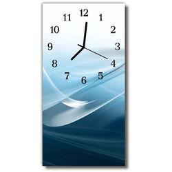 Zegar Szklany Pionowy Sztuka Abstrakcja linie niebieski, kolor niebieski