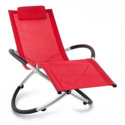 chilly billy leżak ogrodowy leżak relaksacyjny aluminium czerwony marki Blumfeldt